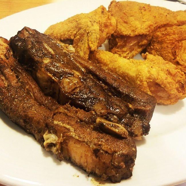 rib and chick dinner Dietkapala Gutomjones Racks Ribs chicken