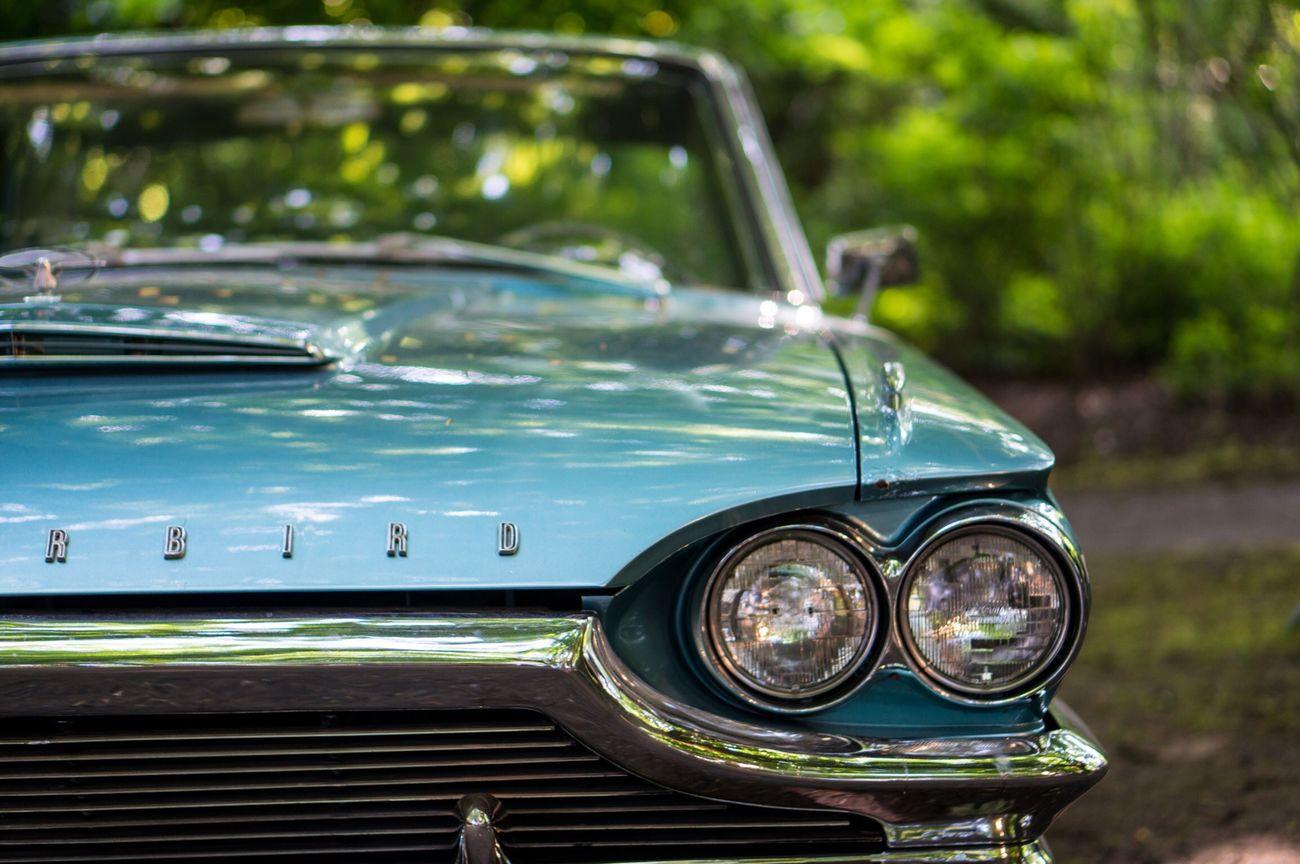Oldtimer Thunderbird Cars Turnhout Belgium Chrome
