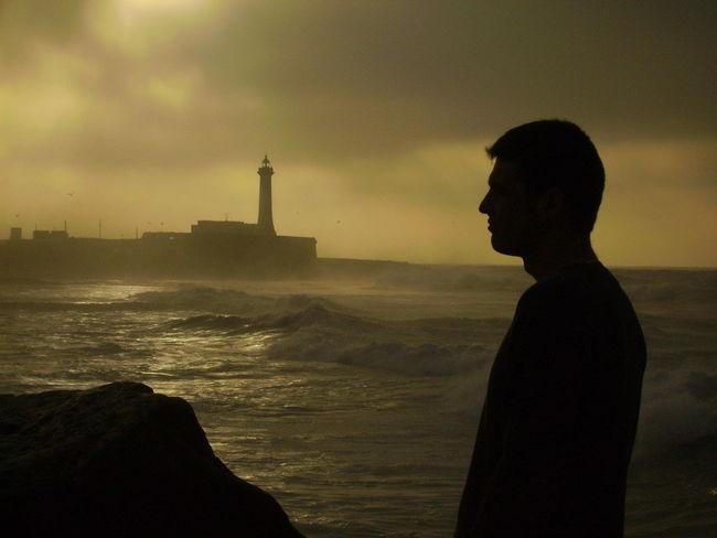 Nature Sea Shore Standing Sunset Tranquil Scene Unrecognizable Person