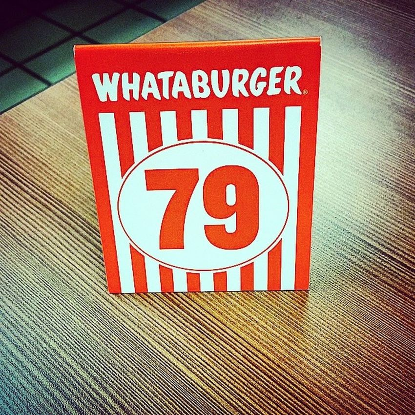 Whataburger OrderNumber79 I shouldn't do this because I'm tired AND I'm Horngry