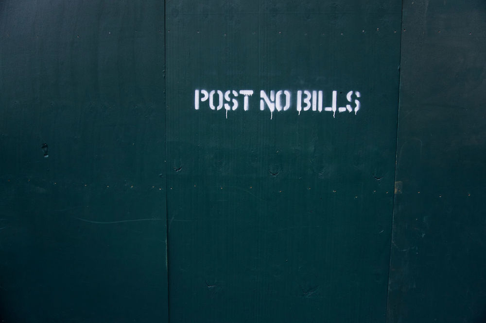 Post no bills Backgrounds Blue Close-up Day Detail Full Frame Information Information Sign No People Post No Bills Wall Wall - Building Feature White