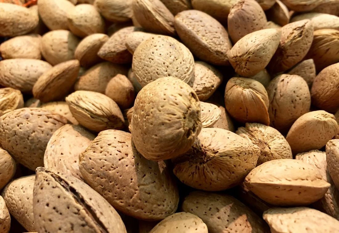 Almonds Shells Nuts Nutrition Grocery Supermarket Roastery Shelled
