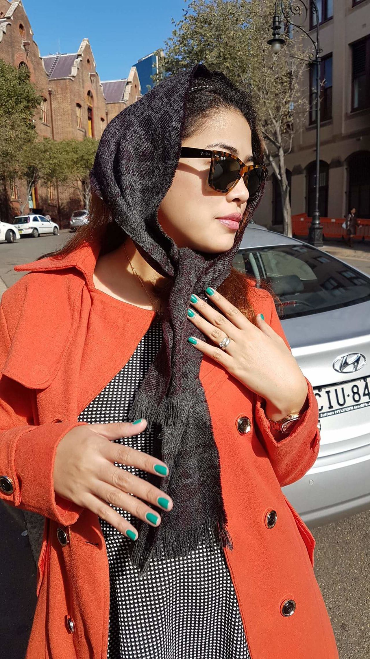 Scarf Sunglasses Outdoors Young Adult Portrait Red Day One Young Woman Only One Person Building Exterior Adults Only Close-up Beautiful Woman One Woman Only Architecture Only Women Young Women Car People Adult City Australia Sydney, Australia Dulcet Filipina First Eyeem Photo filipina