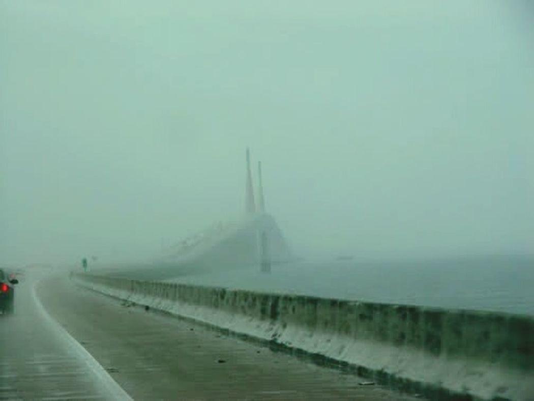 Sunshine Skyway Bridge Not So Sunny No Sunshine Foggy Bridges