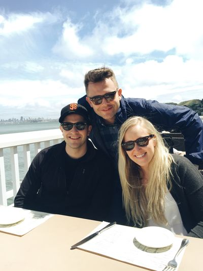 Chilling with the bro and sis in Sausalito