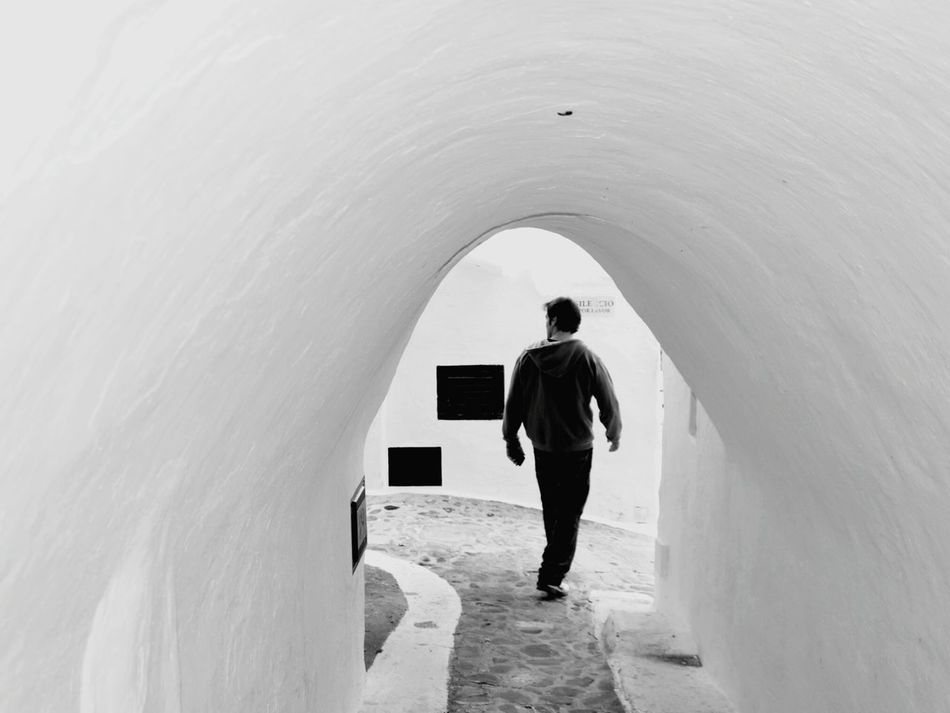Gallery Man Walking Man Walking From Behind Man Walking Alone White Tunnel White Gallery Only Men One Man Only One Person People Tunnel Adult Outdoors