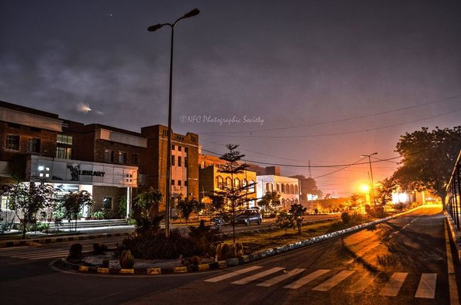 Architecture Built Structure City City Life City Street Cloud - Sky Cold Edit Eye4photography  EyeEm Best Shots EyeEm Nature Lover Illuminated Its Me Mobilephotography Nature Outdoors Pakistan Photography Road Samsungphotography Sky Street Light Sunset The Way Forward Winter