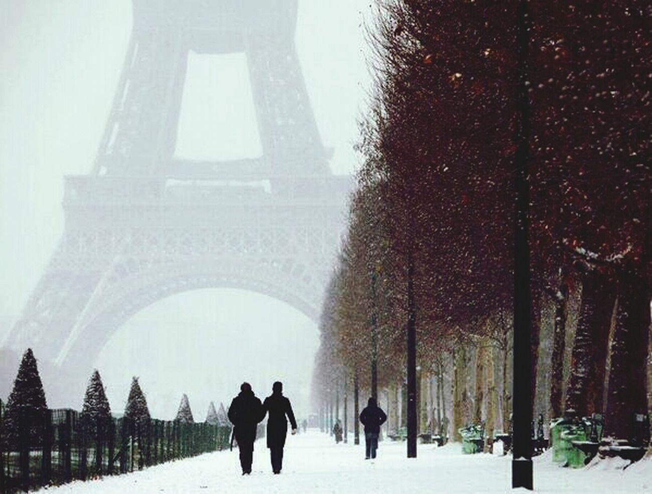 Paris' te bir kış günü Rainy Day