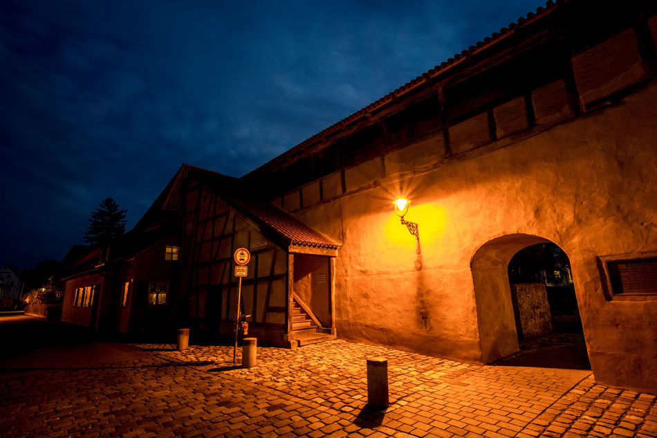 Architecture Architecture Architecture_collection At Night Building Exterior Built Structure City Wall Dark And Light Illuminated Long Exposure Middle Ages Night Night Lights Night Photography Nightphotography No People Outdoors Sky Street Streetphotography