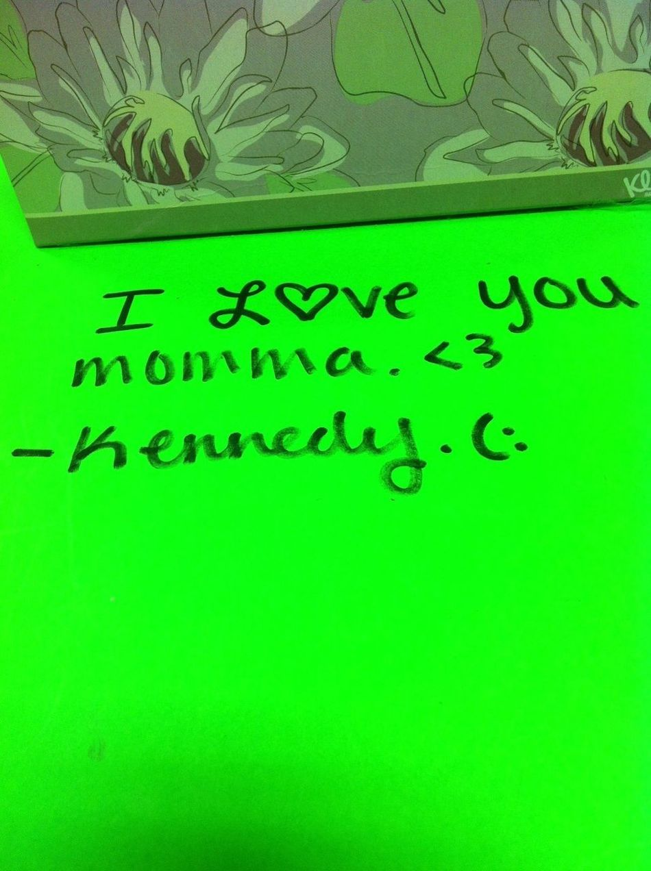 Leaving My Mommy Notes At Work.