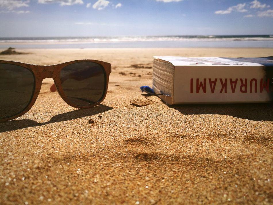 Reading at the beach... Beach Sea Sand Books Costa Rica Playa Playagrande HarukiMurakami