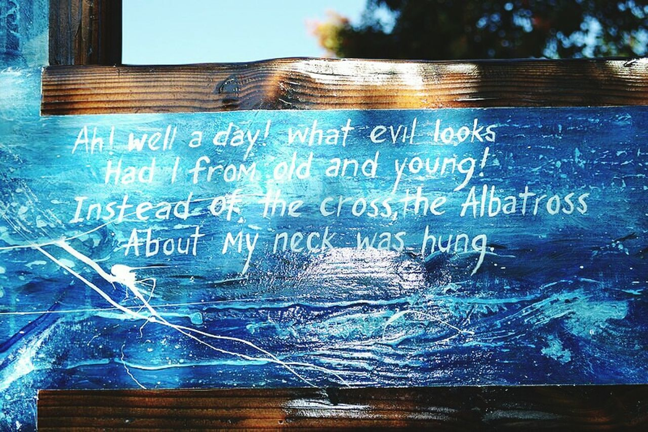 The Rhyme Of The Ancient Mariner Blue Rhymes Signs