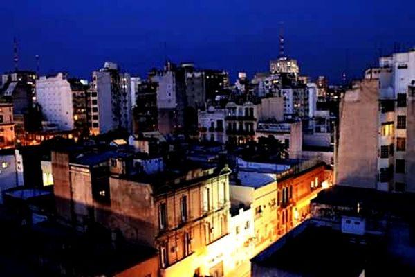 Monserrat. City View  Evening Light Buenos Aires