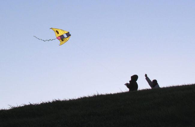 Aquilone Carefree Clear Sky Cometas Enjoyment Flying Fun Grass Hill Juego De Niños Juegos Kite Kite - Toy Leisure Activity Lifestyles Mid-air Niñosfelices Outdoors Tranquil Scene Tranquility Vacations воздушный змей طائرة ورقية 凧 風箏