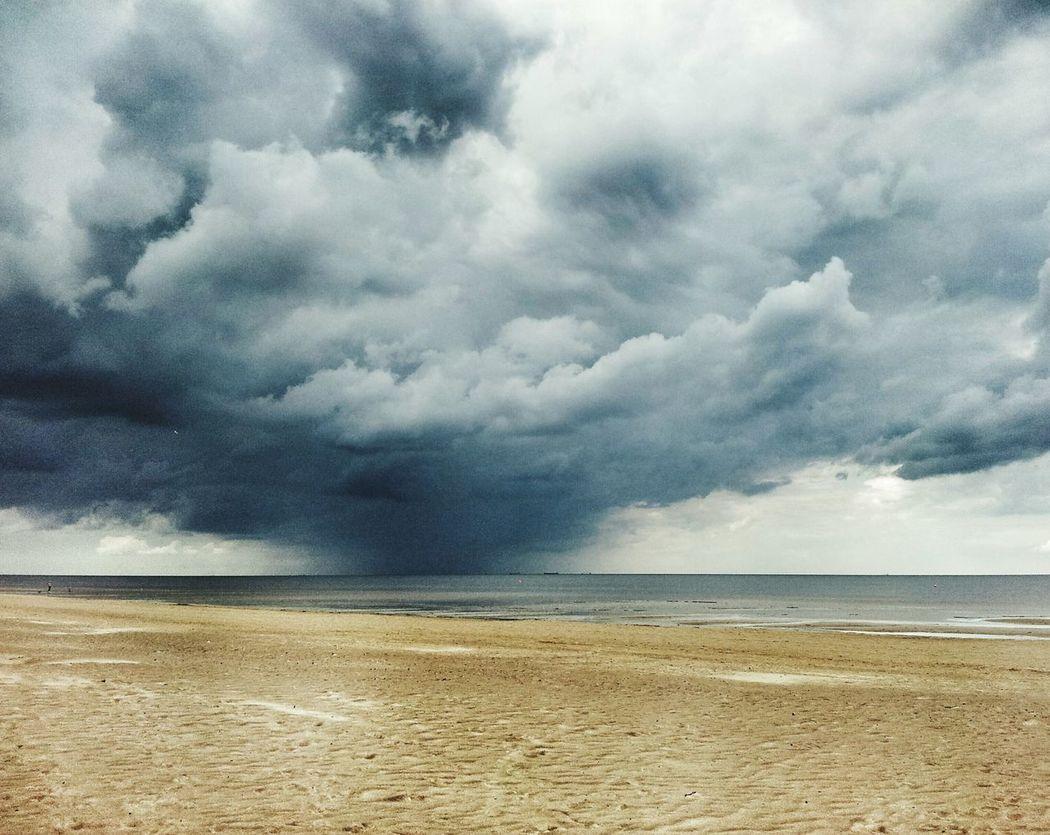 Sea Water Walking Around Latviabestcountry Latvia Riga Summer Stormy Weather Storm Clouds