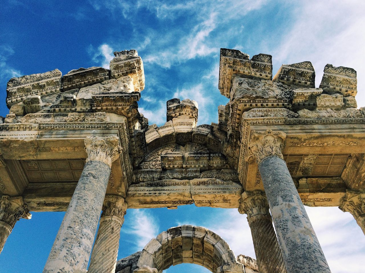 The Tetrapylon at the temple of Aphrodite at Aphrodisias. Turkey EyeEm Architecture Worldheritage Roman Ruins Aphrodisias  Exploring Sky