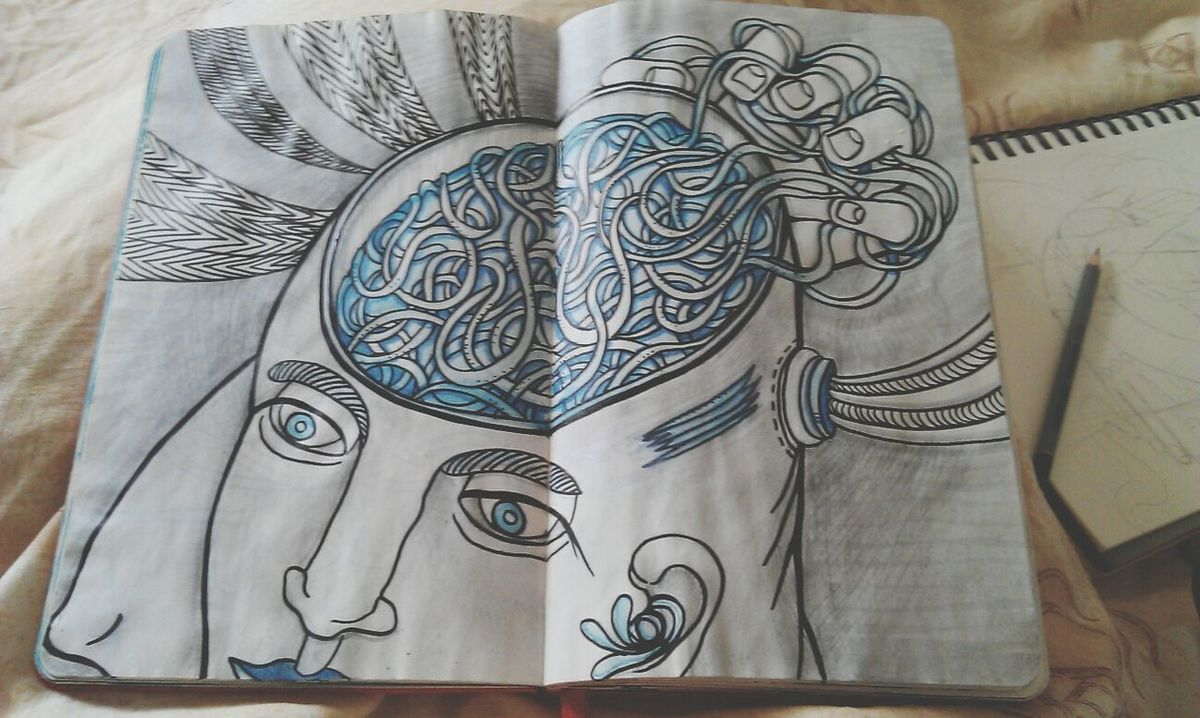 Art Drawing Head Without A Body Nightmare Visions
