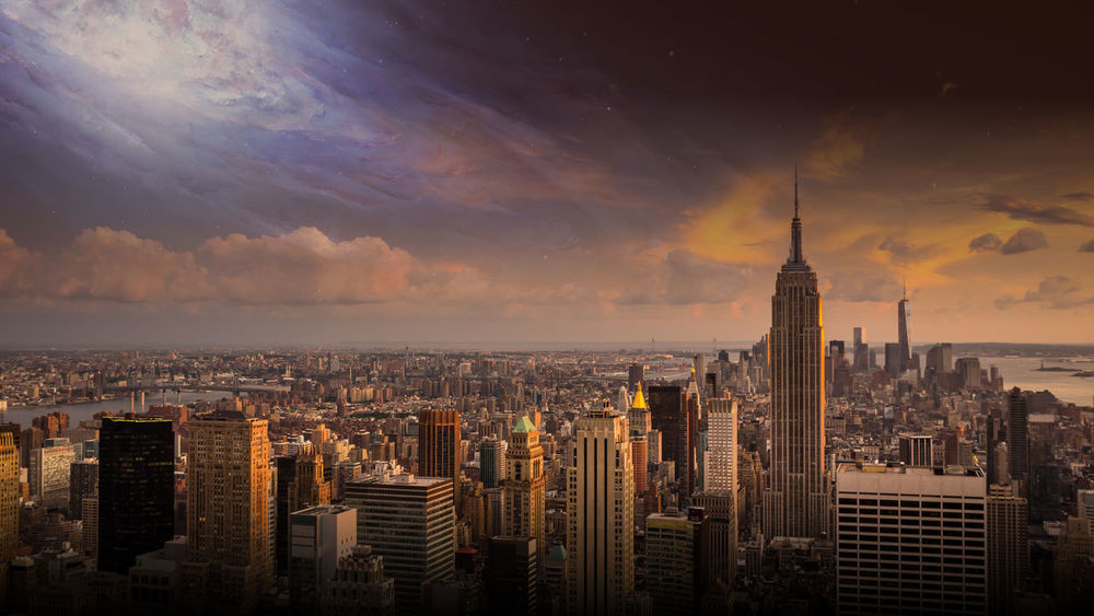 This photo took me a long time It is in 4K And I would appreciate it if you would buy and download! City Cityscape Dystopian Galaxy No People Outdoors Scary Sky Skyscraper Sunset First Eyeem Photo