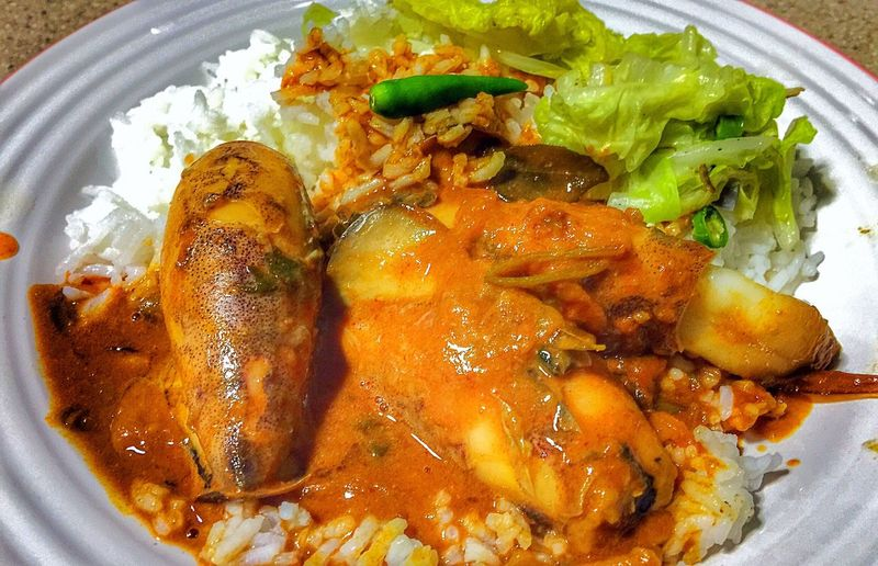 The curry of life - Curry Squids Squidcurry Asiancurry Malaycurry Kari Gulai Dinner Food Food And Drink Plate Healthy Eating Ready-to-eat Serving Size Meal Meat Indoors  Freshness Close-up No People Day
