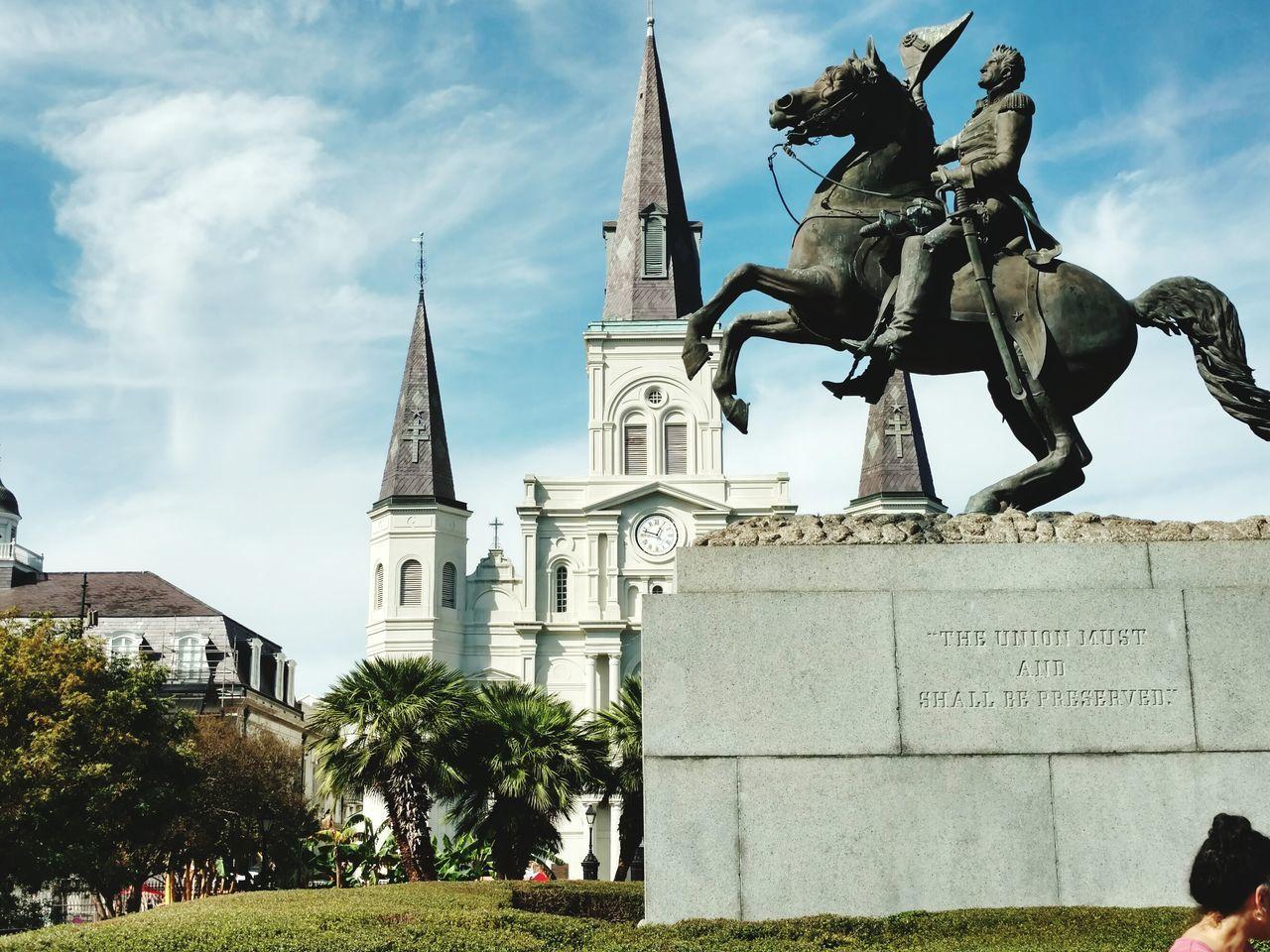 NOLA Jackson Square New Orleans, LA Statue Cityscape