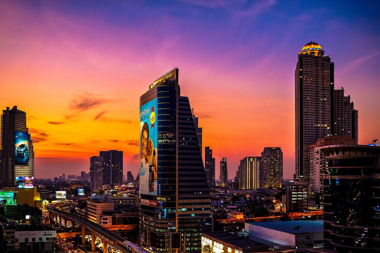 Beautiful stock photos of sunset, Architecture, Bangkok, Building Exterior, Built Structure