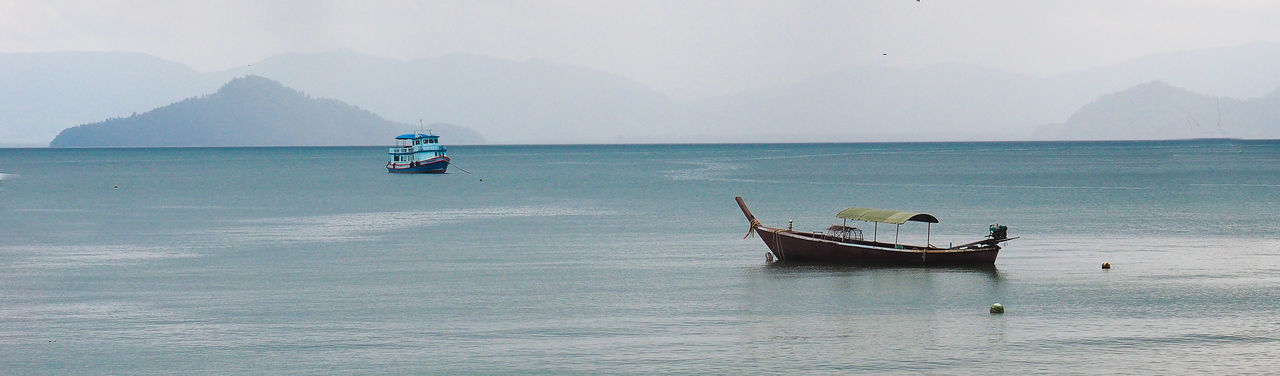 Jeans Brown Photography - Panorama Beauty In Nature Day Fog Landscape Mountain Nature Nature Nature Photography Nature_collection Naturelovers Nautical Vessel No People Outdoors Panorama Scenics Sea Seascape Sky Thailand Thailand_allshots Thailandtravel Tranquil Scene Tranquility Travel Destinations Water EyeEmNewHere Miles Away