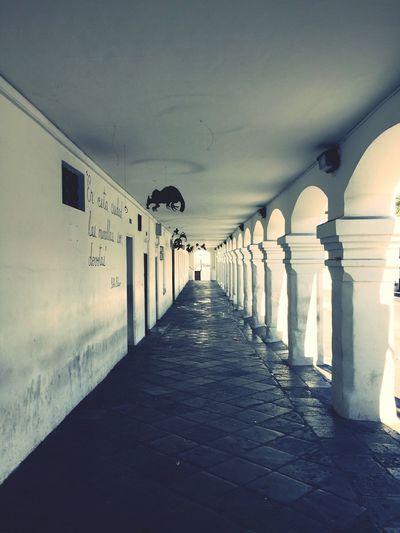 Corridor Architecture Built Structure Arch Ecuador Quito