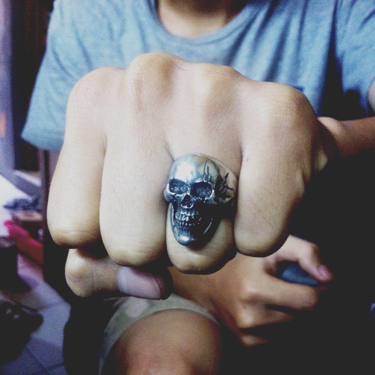 Ring Skullring Handmade Www.vizeta.net
