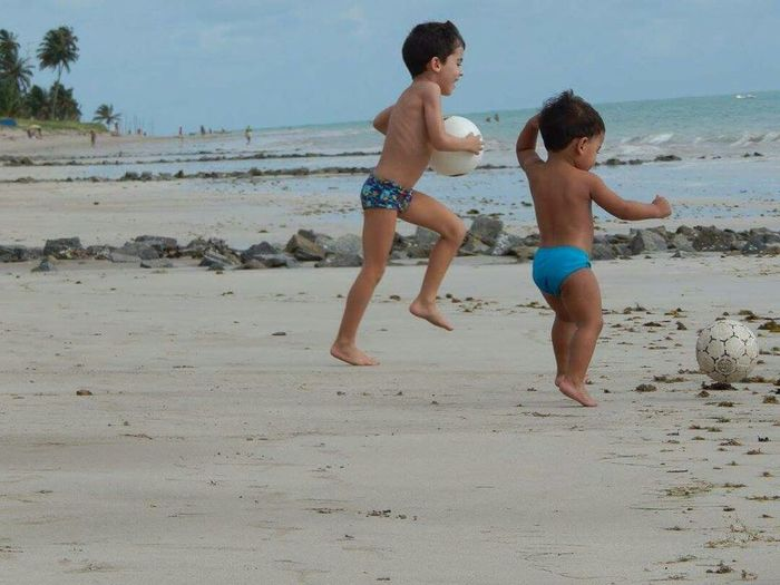 Beach Brother Summer Boys Son Water Playing Child Vacations