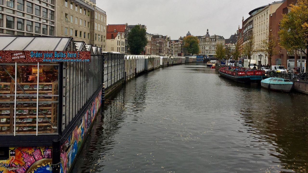 Amsterdam Bloemenmarkt Canal Waterfront