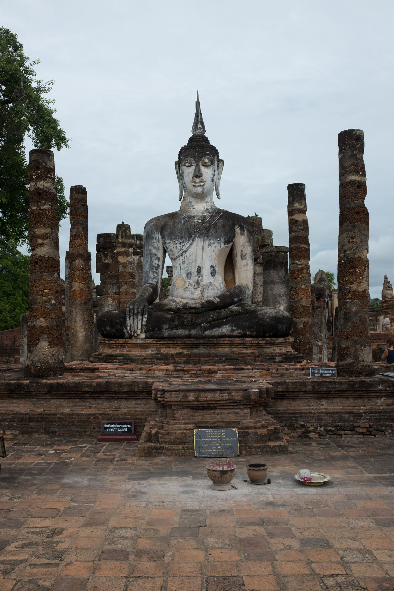 Ancient Civilization Architecture Building Exterior Day History Human Representation Male Likeness No People Old Ruin Outdoors Place Of Worship Religion Sculpture Sky Spirituality Statue Sukhothai Sukhothaihistoricalpark Travel Destinations