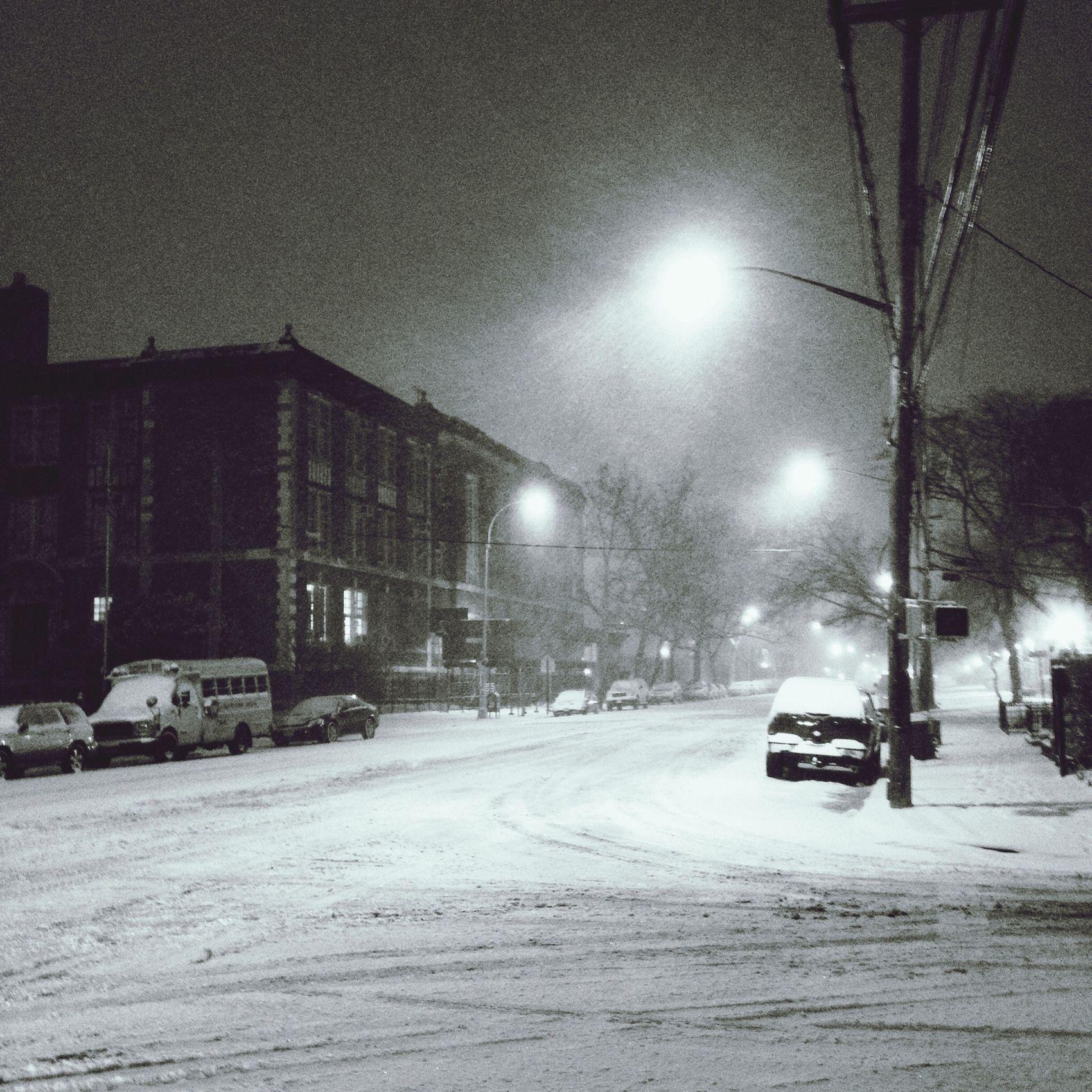Snowing Snow Urban Nightphotography