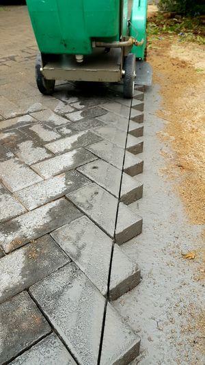 Cutting brick Paving with a petrol powered diamond cutter. Paving Stone Paving Bricks Brickwork  Edging Powertools Powertool Landscaping Landscaping_services Diamondblade