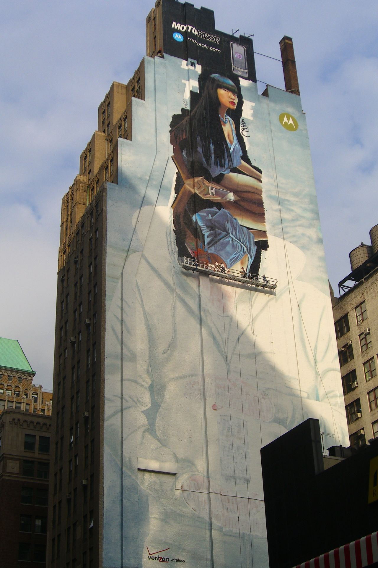 Advertisement ArtWork Building Façade Manhattan New York City Picture Still Life