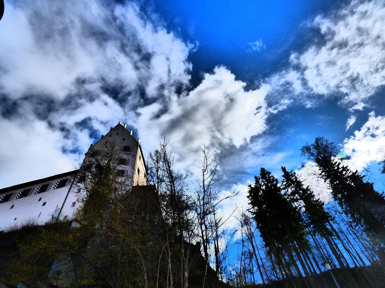 Building Exterior Cloudy Füssen, Bayern, Deutschland Hohen Schloss Holidays Sky Travelling Trees