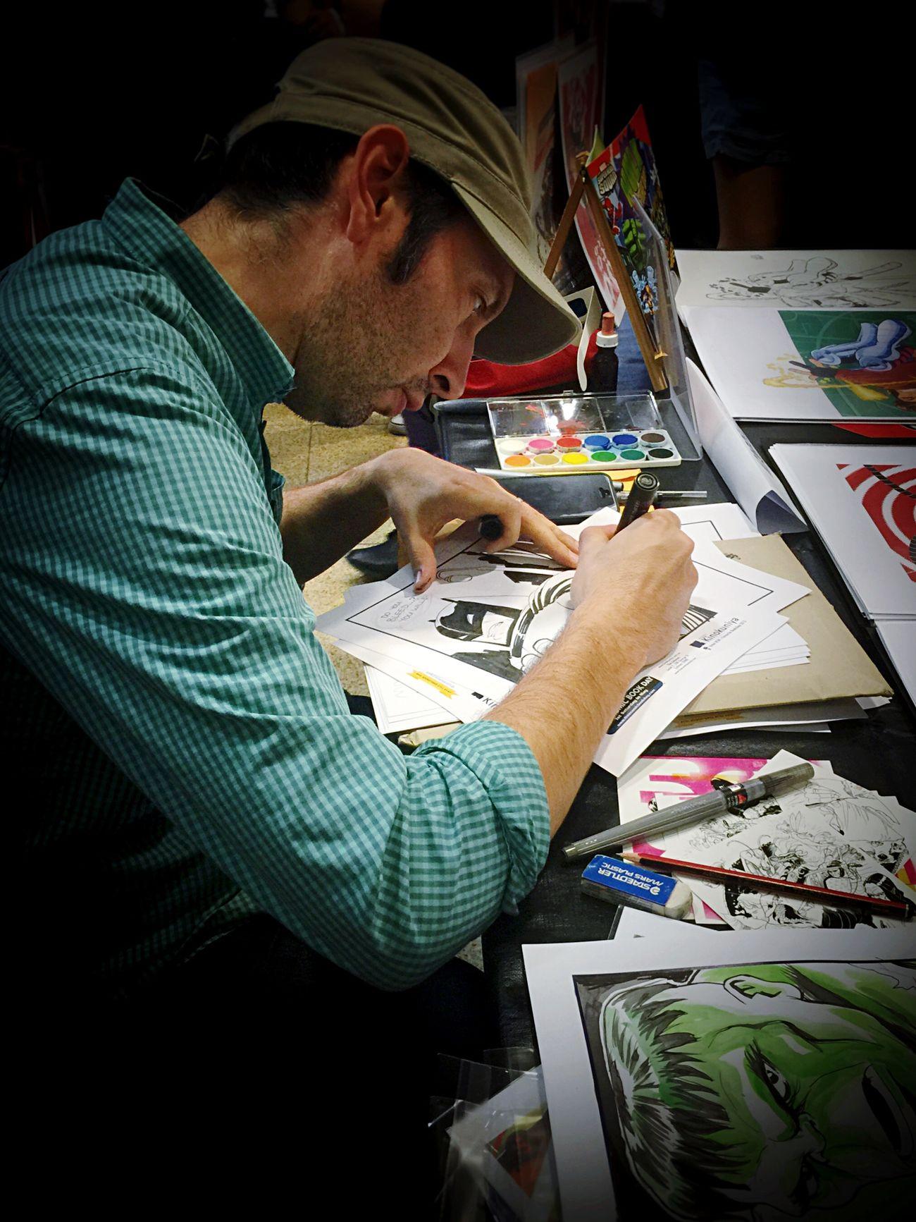 • Deep Focus • Everyday Education The Moment - 2015 EyeEm Awards People Focus Drawing Artist Manga Anime Comic Teacher