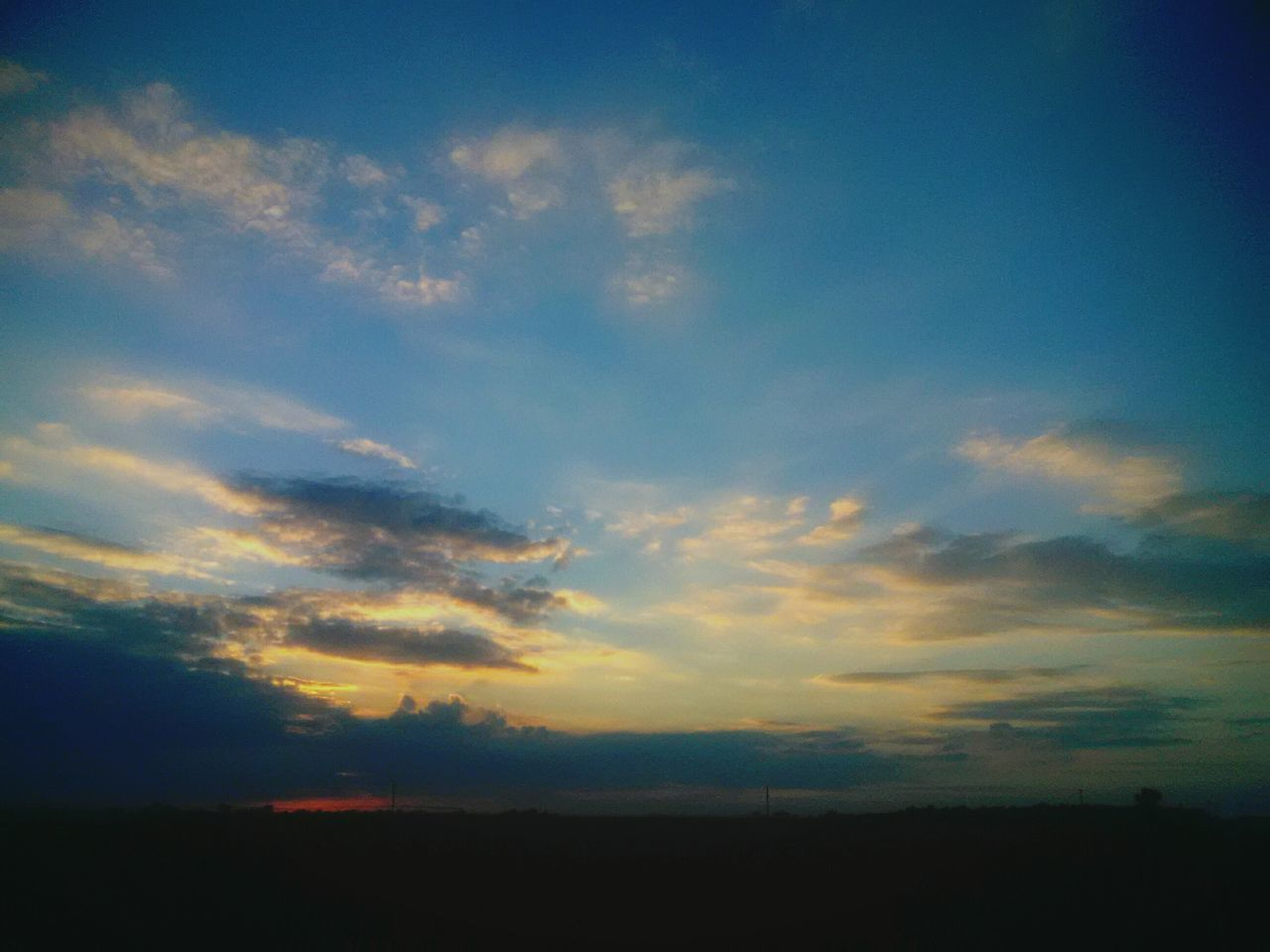 sunset, silhouette, sky, nature, landscape, tranquil scene, scenics, beauty in nature, cloud - sky, tranquility, no people, outdoors, day