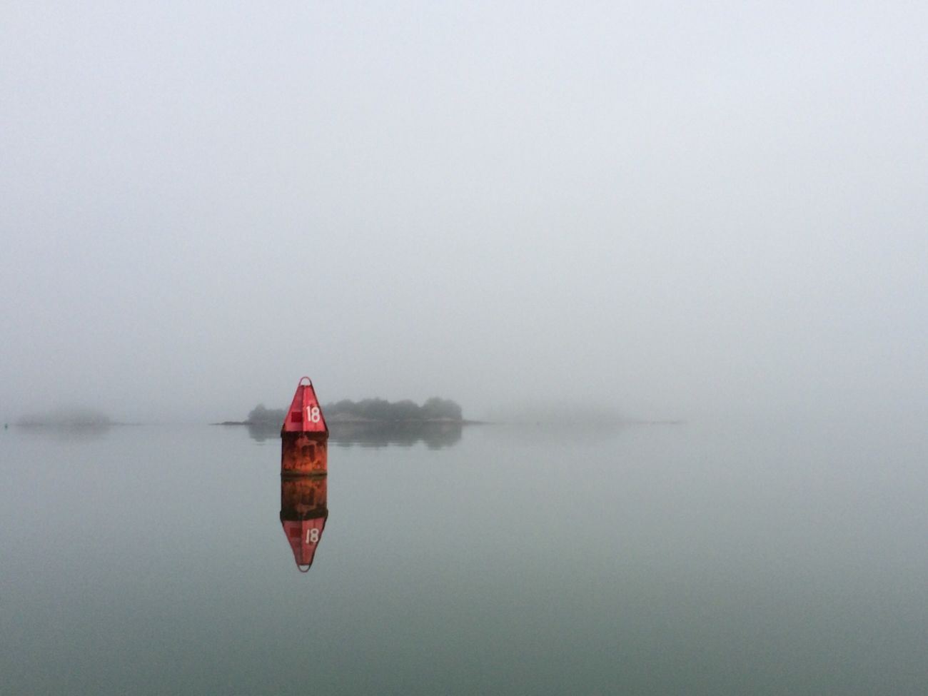 My Backyard. Red nun number 18. Hingham Harbor Mybackyard Fog Foggy Morning Foggy Bouy Nun Harbor Channels The Great Outdoors - 2016 EyeEm Awards