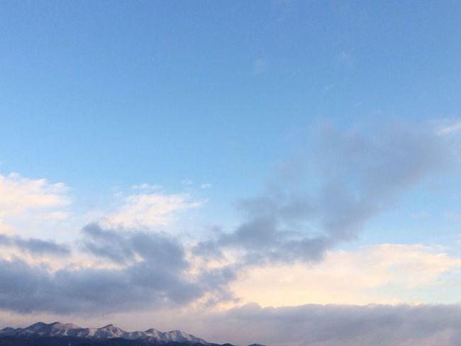 雪化粧。 Morning Sky
