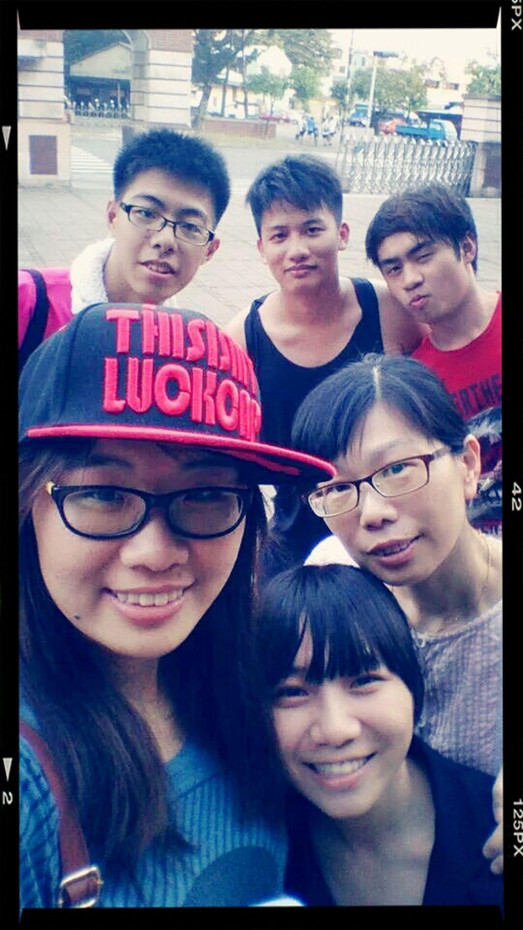 高校の先生、同窓と一緒に Teacher Taiwan Classmates