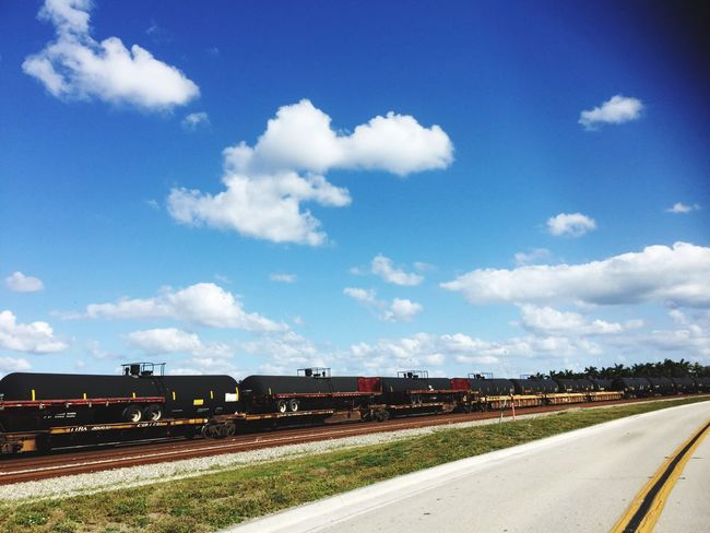 Train Freight Transportation Clouds And Sky Railroad Ft Lauderdale Oil Hanging Out Taking Photos Supply And Demand