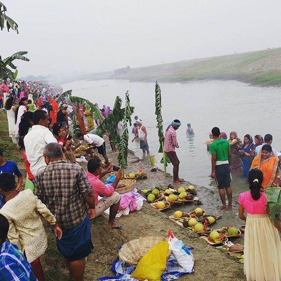 Chhathpuja Festival Family Home Mother Bihar India