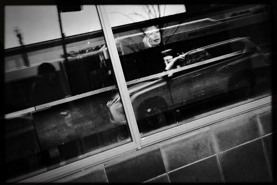 Lazy Saturday coffee on Bryn Mawr Avenue, Chicago. Real People Lifestyles Indoors  Public Transportation Day People Hipstamatic Streetphotography Streetphoto_bw Shootermag