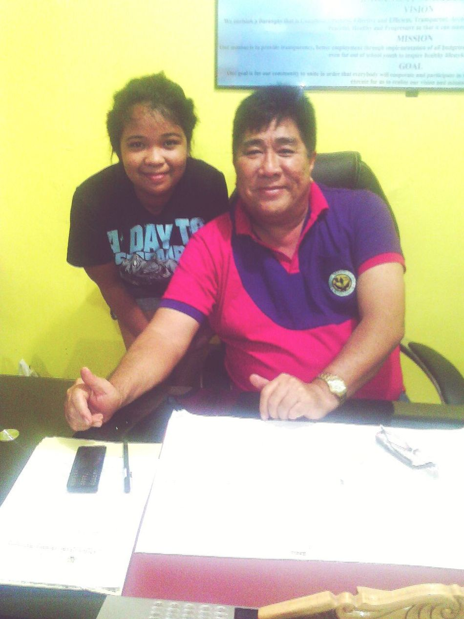 With Brgy Captain