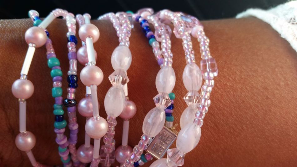 Necklace Jewelry Crystal Close-up Fashion Variation Pink Color Beads