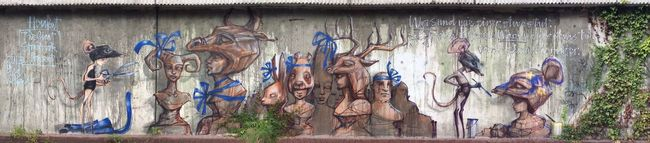 Nice! ⇢ 'The Giant Storybook Project' by Street Art Duo 'Herakut'