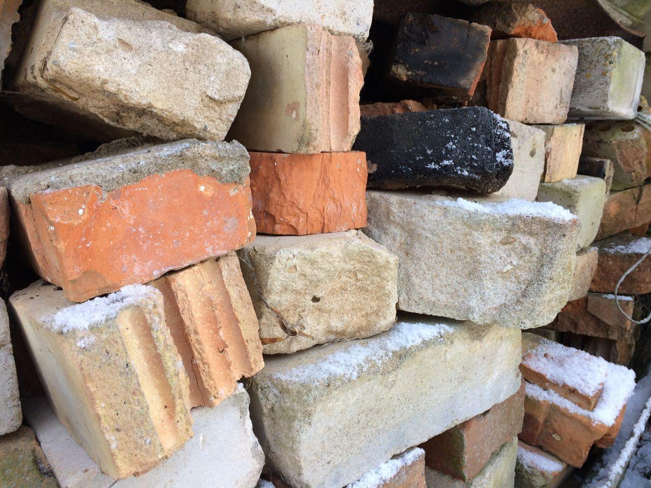 Stack Backgrounds Full Frame Shape No People Sweet Food Close-up Day Outdoors Brick Bricks Brickporn Brickwork  Old