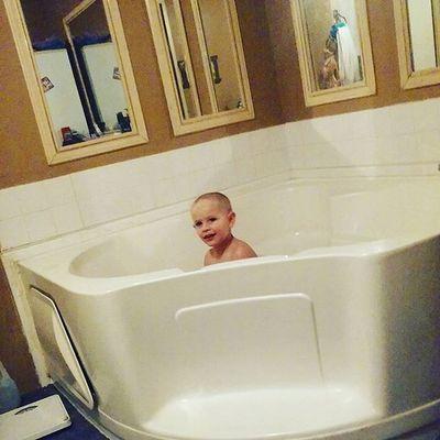 He loves grandma's big bath tub!! Smellsgood Love Boy Boymom Bigbathtub