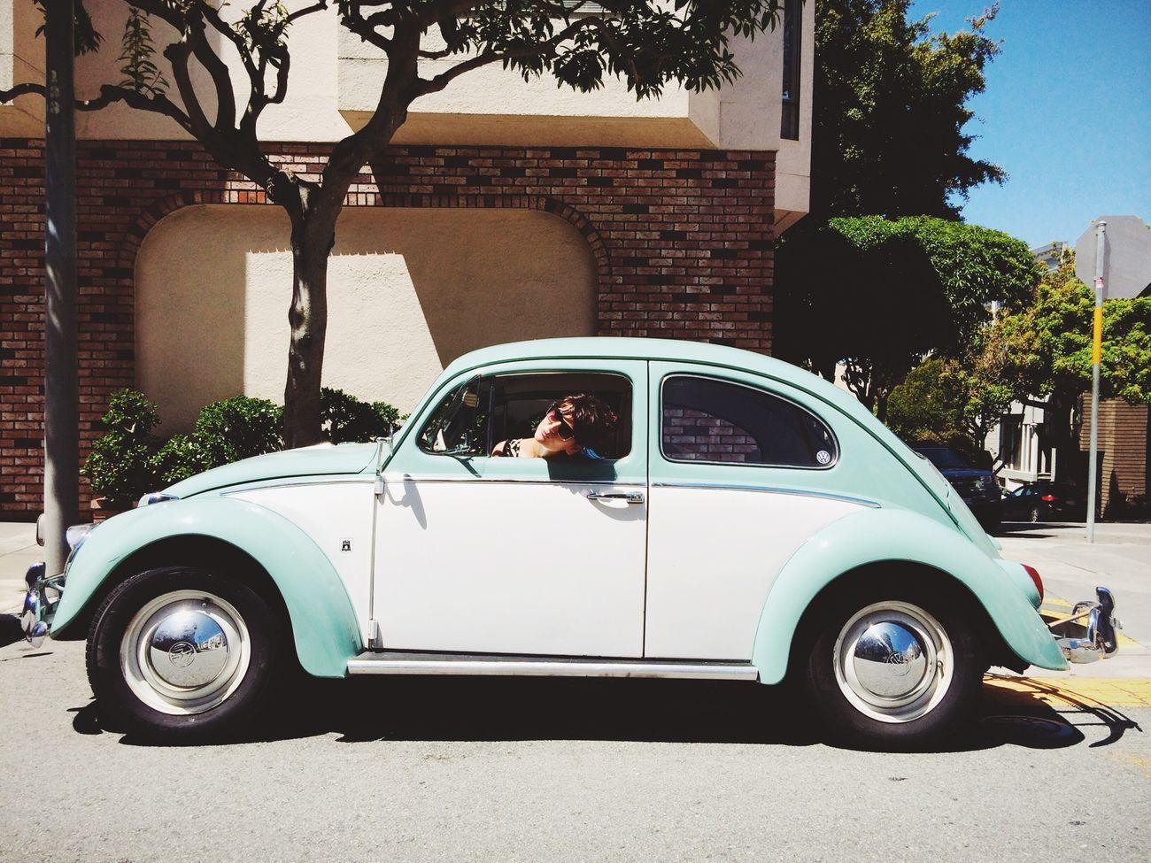 Oh hai! Steffi in her VW Beetle