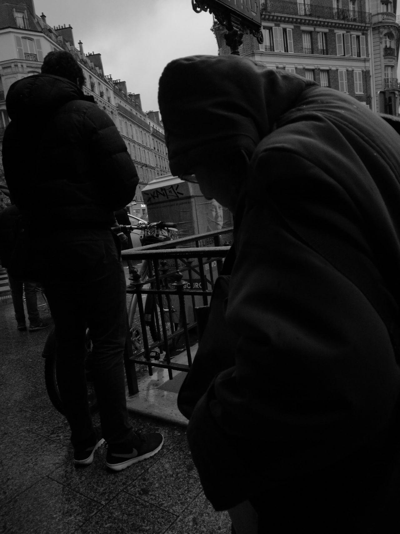 City City Street Real People Adult Outdoors Wet City Life Rain EyeEmNewHere Black&white Black And White Blackandwhite Black And White Photography Streetphotography France Street Paris